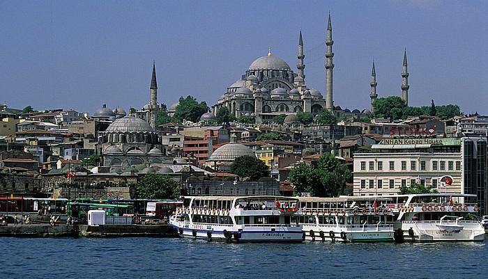 Blick von der Galata-Brücke: Süleymaniye-Moschee Istanbul