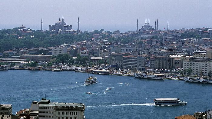 Blick vom Galata-Turm: Goldenes Horn, Sultanahmet Istanbul