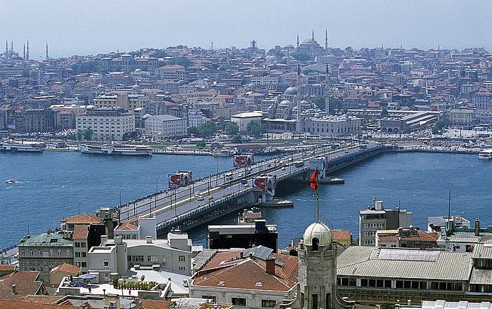 Blick vom Galata-Turm: Goldenes Horn, Eminönü Istanbul