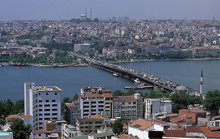 Istanbul Blick vom Galata-Turm: Goldenes Horn, Atatürk-Brücke