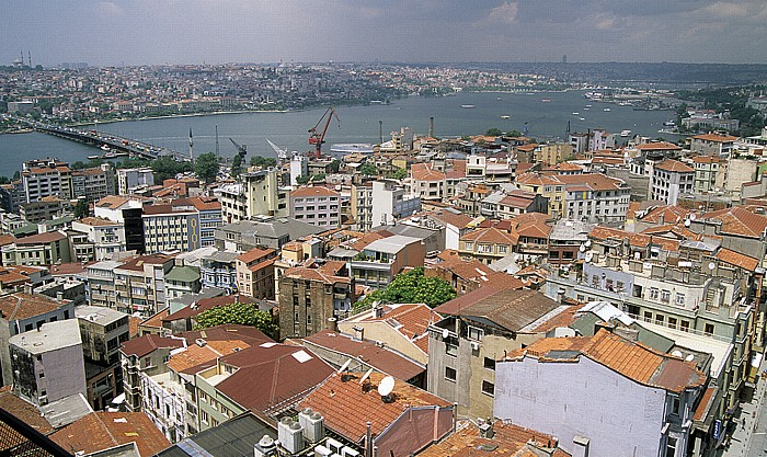 Istanbul Blick vom Galata-Turm: Goldenes Horn