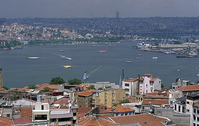 Blick vom Galata-Turm: Goldenes Horn Istanbul