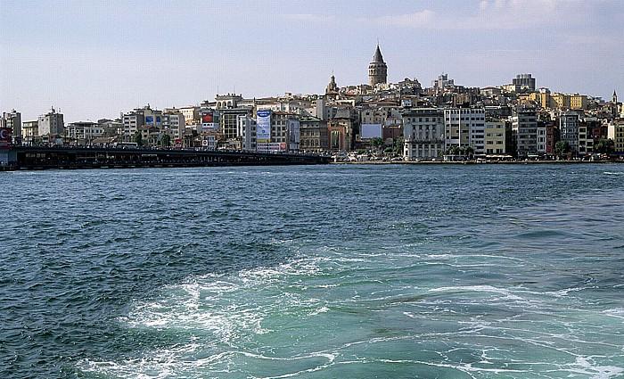 Istanbul Goldenes Horn: Galata-Brücke, Galata, Galata-Turm