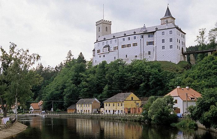 Rozmberk nad Vltavou Schlossburg, Moldau