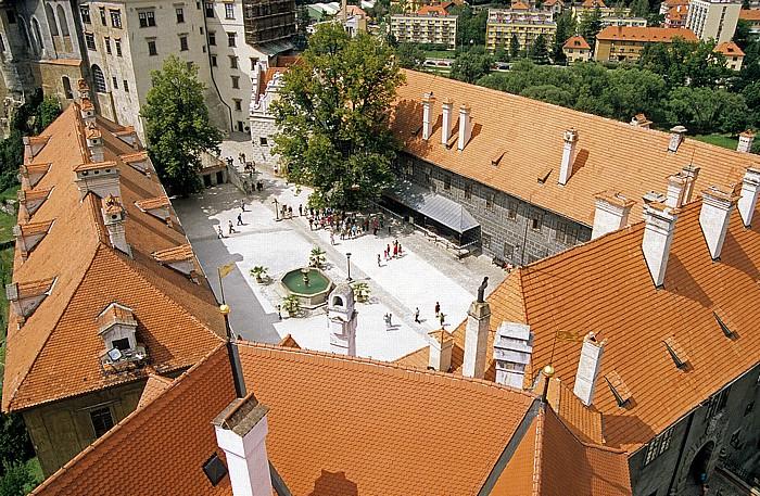 Krumau an der Moldau Blick vom Schlossturm: Schloss