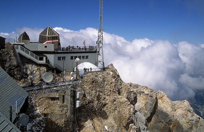 Zugspitze Gipfel: Österreichische Gipfelstation