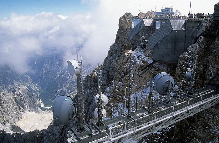Zugspitze (A) Gipfel: Gipfelstation der Eibseeseilbahn