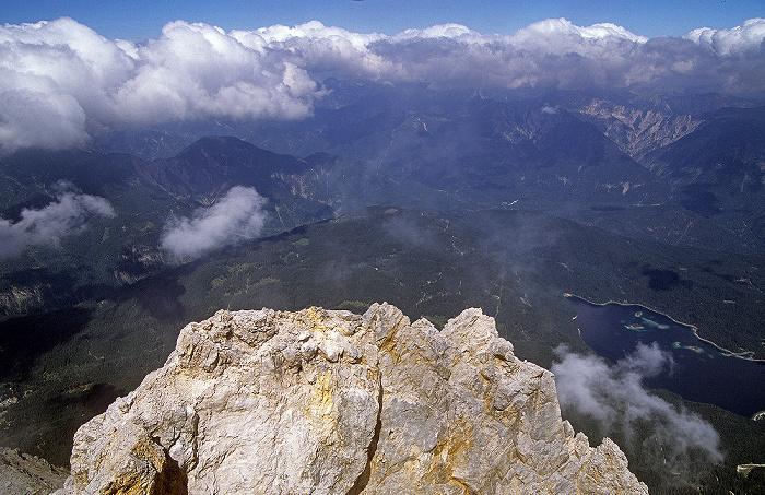 Zugspitze (A) Blick vom Gipfel