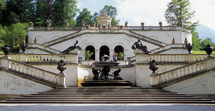 Linderhof Schlossgarten: Terassengärten