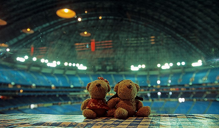 Toronto SkyDome (Rogers Centre): Teddine und Teddy im Hard Rock Cafe