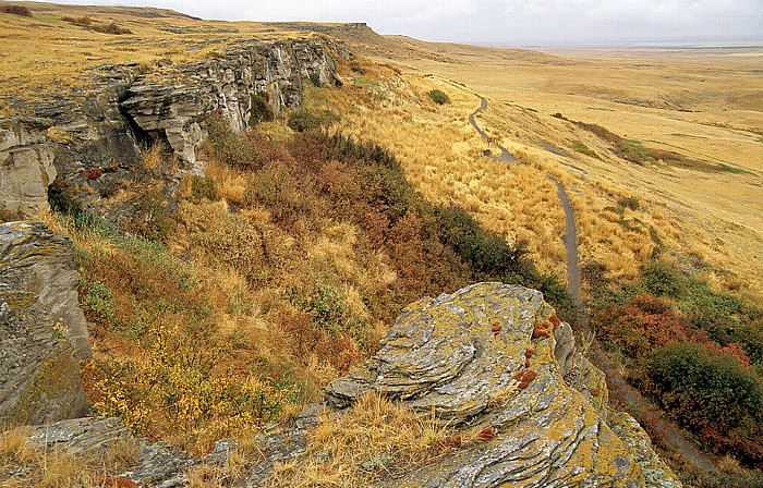 Fort Macleod Head-Smashed-In Buffalo Jump: Sturzfelsen