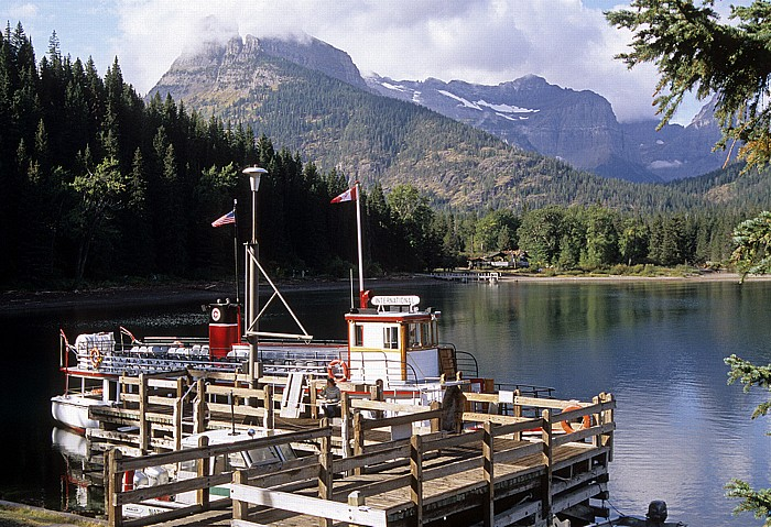 Glacier National Park (USA) Goat Haunt: Boat Dock Upper Waterton Lake