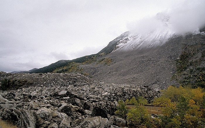 Crowsnest Pass Frank Slide am Turtle Mountain