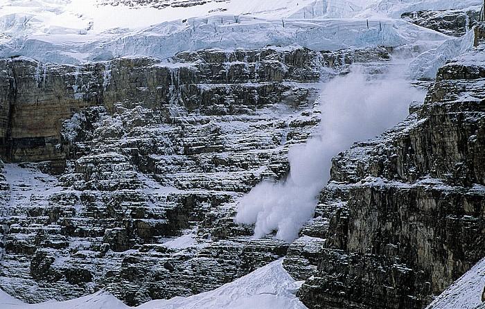 Banff National Park Blick vom Plain of the Six Glaciers: Gletscherabbruch am Mount Victoria