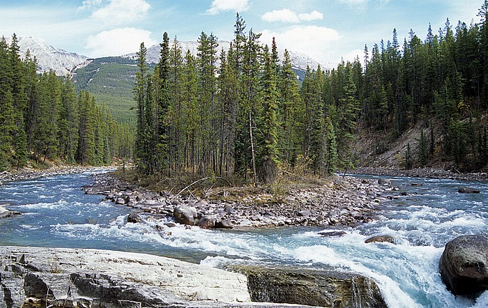 Jasper National Park Sunwapta River, Sunwapta Falls