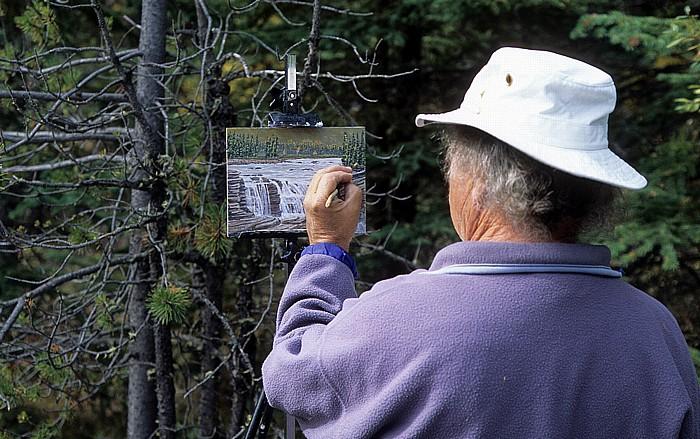 Jasper National Park Athabasca Falls: Maler