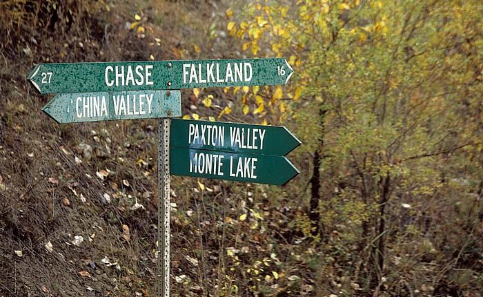 British Columbia Zwischen Chase und Falkland
