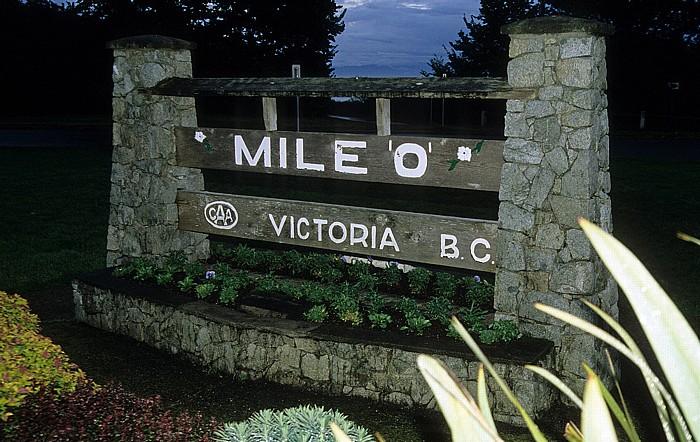 Victoria Mile 0 Trans Canada Highway