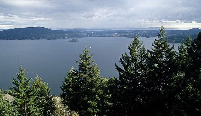 Vancouver Island Saanich Inlet (mit Senanus Island), Saanich Peninsula