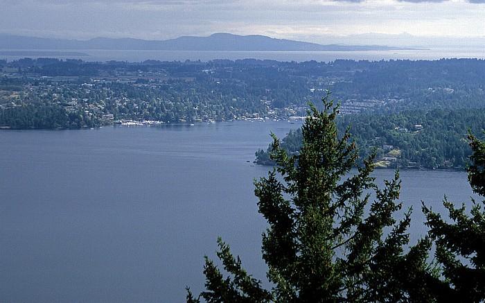 Vancouver Island Saanich Inlet (mit der Brentwood Bay), Saanich Peninsula