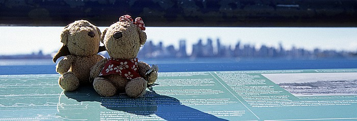 Vancouver Lonsdale Quay: Teddy und Teddine Downtown