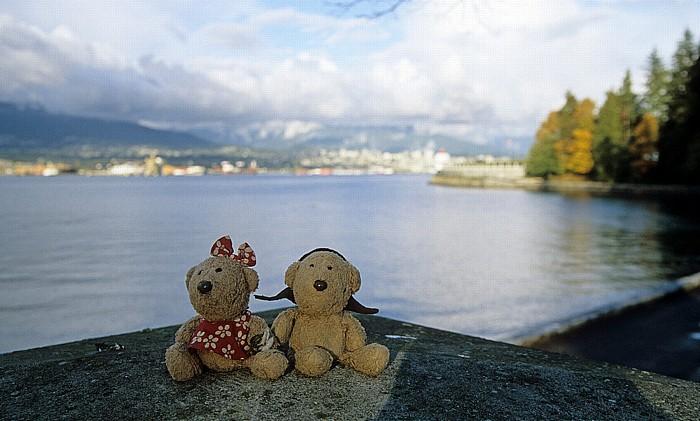 Vancouver Stanley Park (Brockton Point): Teddine und Teddy Burrard Inlet