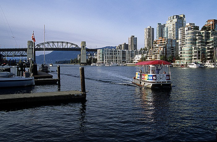Vancouver False Creek: AquaBus Burrard Street Bridge English Bay