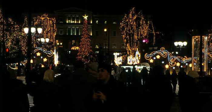 Athen Syntagma-Platz: Weihnachtsmarkt