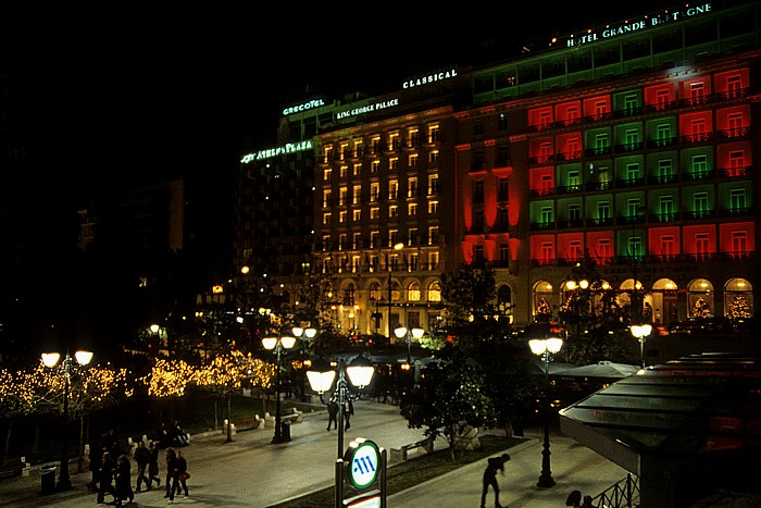 Athen Syntagma-Platz: Hotel Grande Bretagne