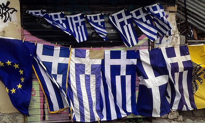 Athen Griechische Flaggen