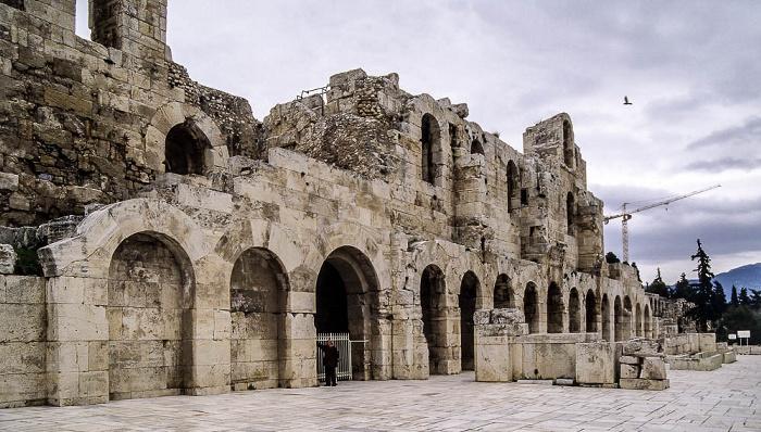 Akropolis: Odeon des Herodes Atticus Athen 2007