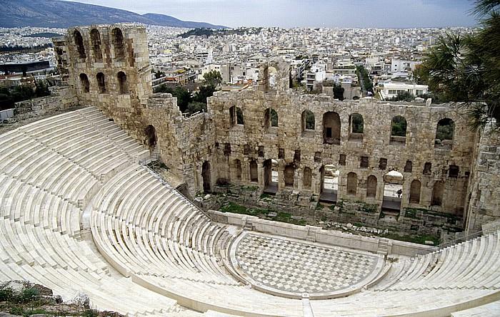 Athen Akropolis: Odeon des Herodes Atticus