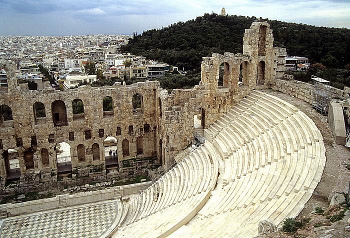 Athen Akropolis: Odeon des Herodes Atticus Musenhügel Philopapposdenkmal