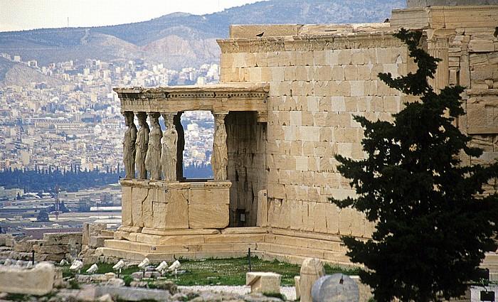 Athen Akropolis: Erechtheion mit den Karyatiden