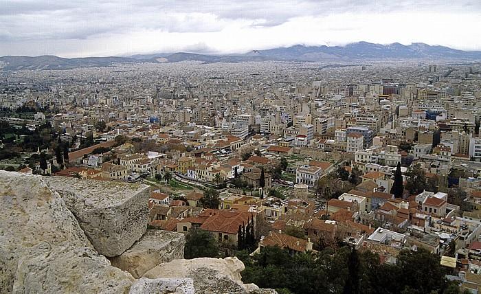 Athen Blick von der Akropolis