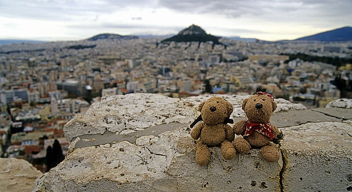 Athen Akropolis: Teddy und Teddine Lykavittos