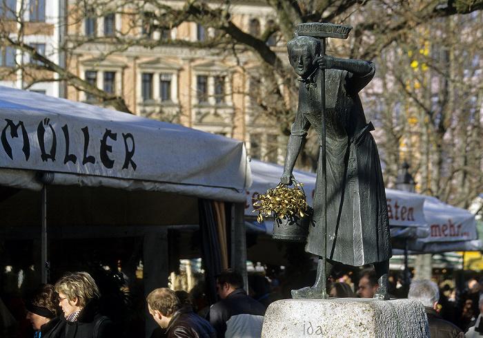 München Viktualienmarkt: Ida-Schumacher-Brunnen
