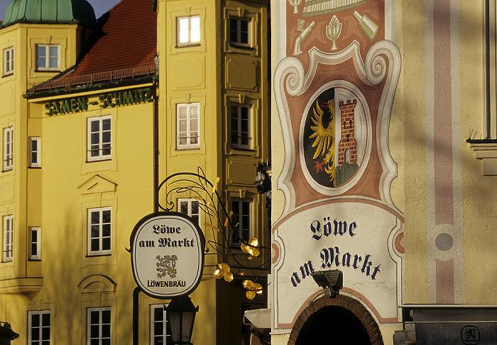 München Viktualienmarkt: Gaststätte Löwe am Markt