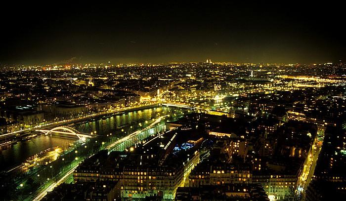Paris Blick vom Tour Eiffel (Eiffelturm) nach Norden Musée du quai Branly Passerelle Debilly Pont de l'Alma Seine