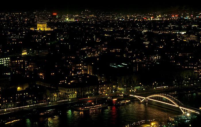 Paris Blick vom Tour Eiffel (Eiffelturm) nach Norden Arc de Triomphe Passerelle Debilly Seine