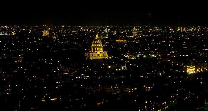 Paris Blick vom Tour Eiffel (Eiffelturm) nach Osten Invalidendom Notre-Dame de Paris