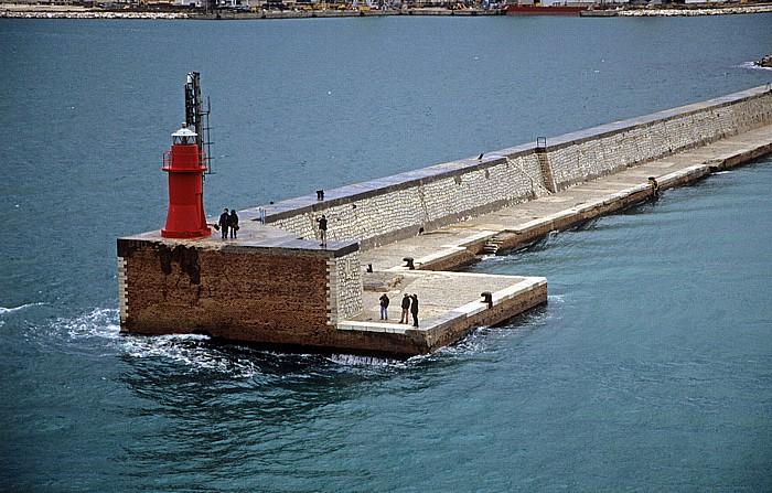 Ancona Hafen: Leuchtturm