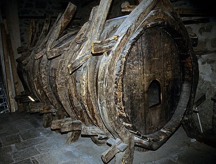 Kloster Varlaám: 13000 Liter fassendes Weinfass Metéora
