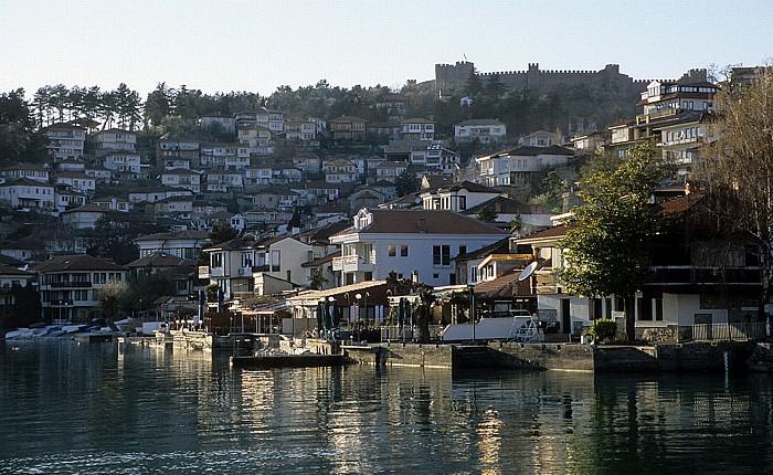 Ohrid Altstadtviertel Tvrdina Festung des Zaren Samuil