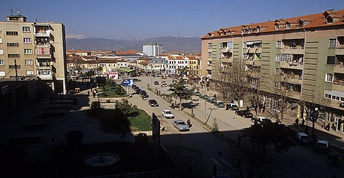 Korça Blick aus dem Grand Hotel