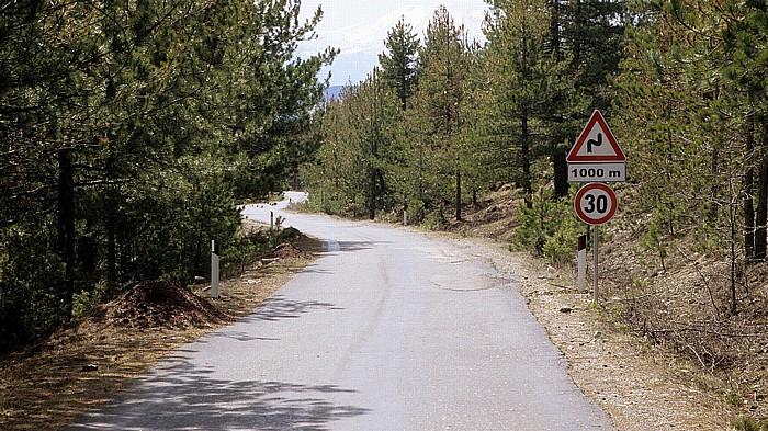 Albanien Straße Erseka - Përmet