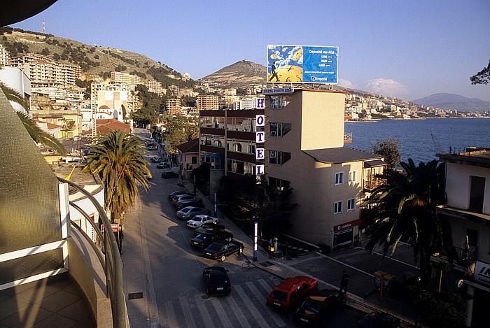 Saranda Blick aus dem Hotel Palma Mali i Lëkurësit