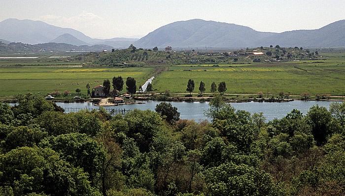 Butrint Blick von der Akropolis: Vivar-Kanal, Ebene von Vrina