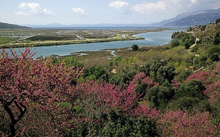 Butrint Blick von der Akropolis: Vivar-Kanal
