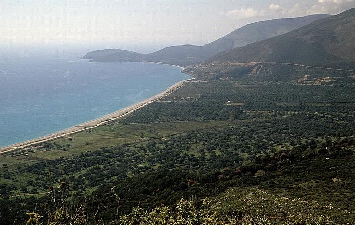 Albanische Riviera Zwischen Saranda und Vlora: Küste des Ionischen Meeres